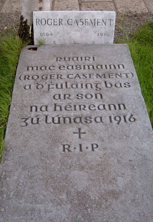 Casement Grave in Glasnevin (Image at Wikimedia