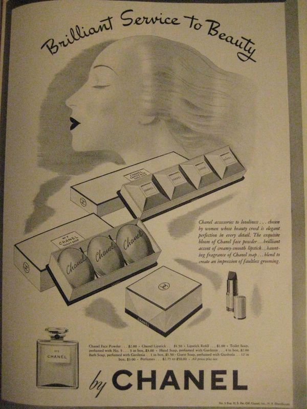 Fig. 7 - Advertisement for Chanel Cosmetics, Harper's Bazaar, February 1943