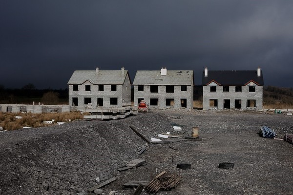 Fig. 2 -- Valerie Anex's photographs of abandoned luxury housing projects in Ireland